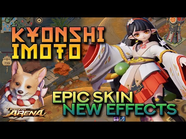 KYONSHI IMOTO JADE GARLAND –  Epic Skin In-Game Preview and Skill Effects | Onmyoji Arena