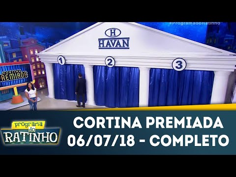 Cortina Premiada | Programa Do Ratinho (06/07/18)