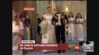 BODA DE VICTORIA DE SUECIA - PRIMERAS IMAGENES EN LA IGLESIA 19-06-2010 MP3