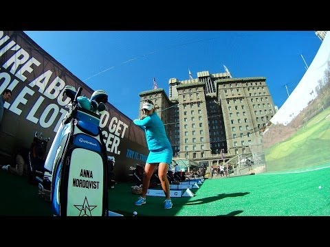 LPGA pro Anna Nordqvist Interview at TaylorMade SpeedBlade Event