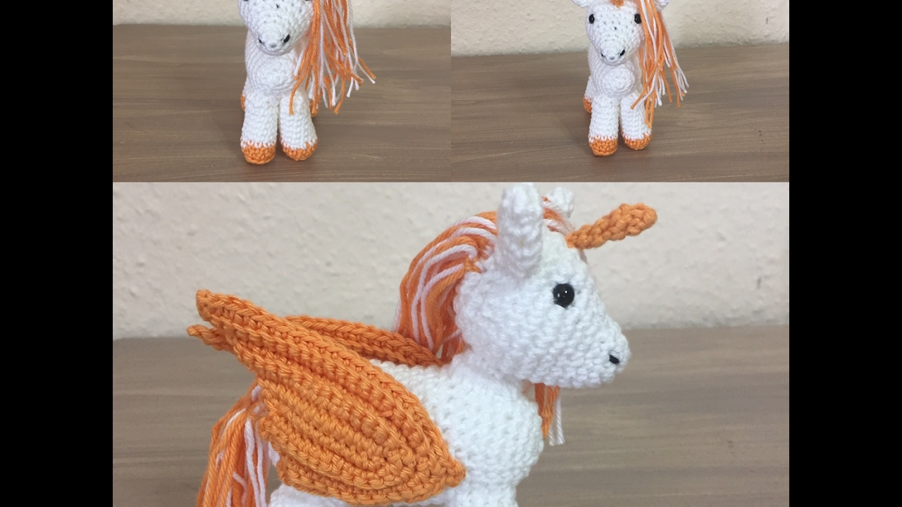 Amigurumi Tuto : Tuto amigurumi poney licorne et pégase au crochet spécial
