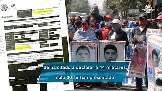 Han dado su testimonio 30 de 44 elementos del Ejército por  la desaparición de los normalistas, pero la Fiscalía no transparenta lo que dijeron