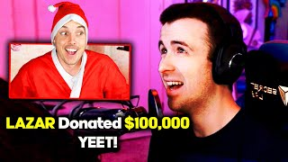 Donating $100,000 For Christmas