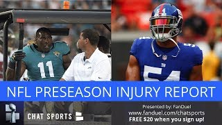 nfl preseason injuries