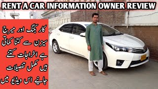 Rent A car Business idea full detail  | Total Expenses and Earning | monthly kharcha or bachat ?