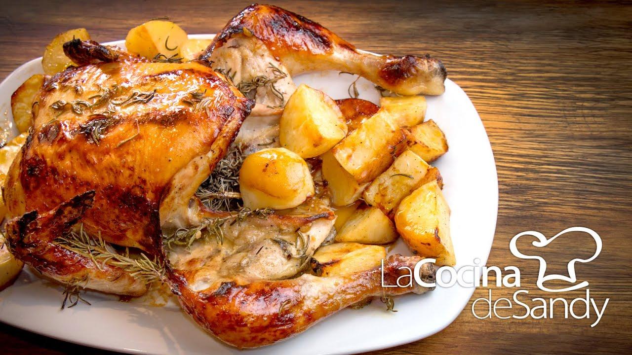 Pollo al horno con romero miel mostaza y limon en recetas