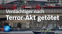 Messerattacke in London: Verdächtiger von Polizei erschossen - Tat als Terrorakt eingestuft