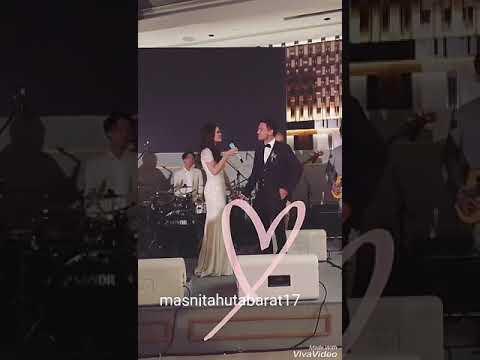 Wedding Raisa & Hamish ( Raisa nyanyikan lagu special utk Hamish )