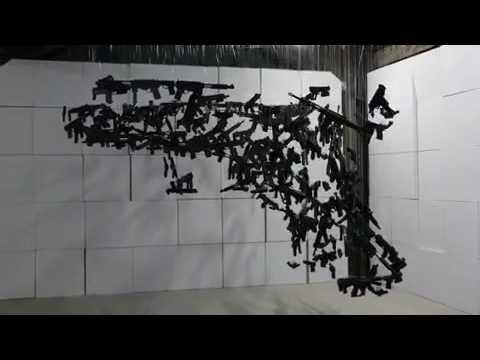Michael Murphy's Epic Anti-Gun Artwork for the DNC