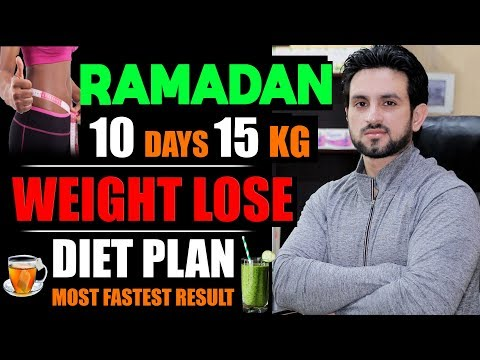 10 Days 15 Kg Challenge Ramazan Fat Loss Diet Plan Urdu/Hindi
