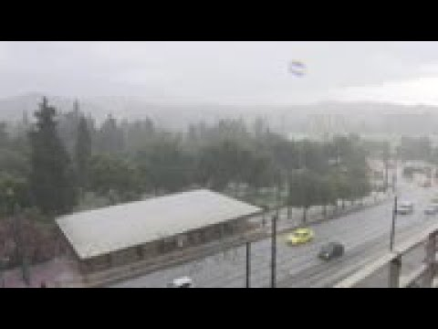 Spring hailstorm hits Greek capital