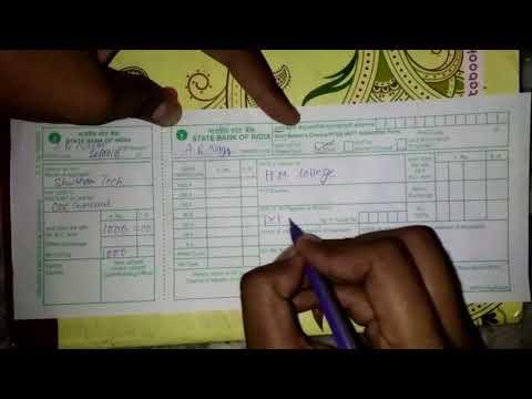 How To Fill Demand Draft Form Of SBI | SBI का डिमांड ड्राफ्ट का फॉर्म कैसे भरे