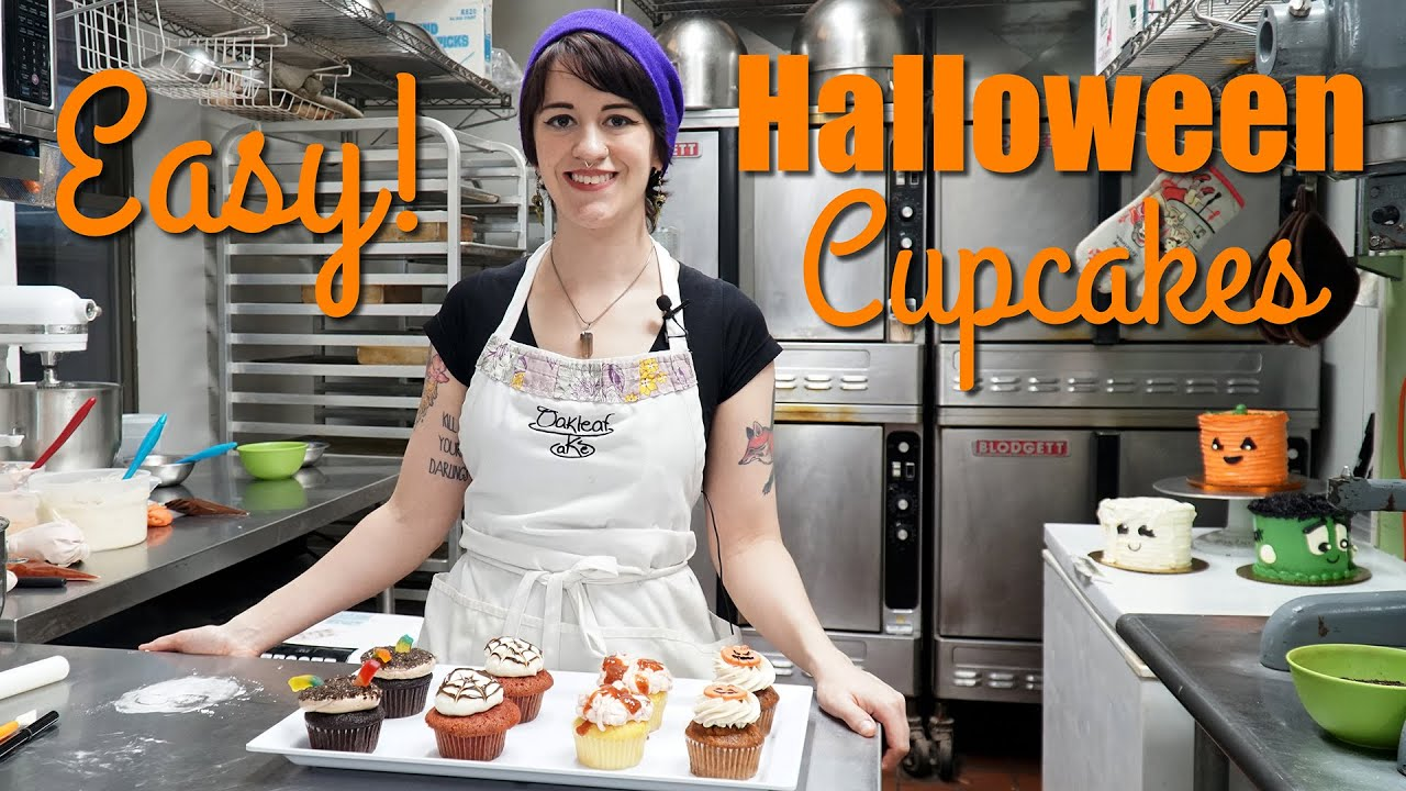 4 Easy Halloween Cupcake Ideas For Kids Beginners Youtube
