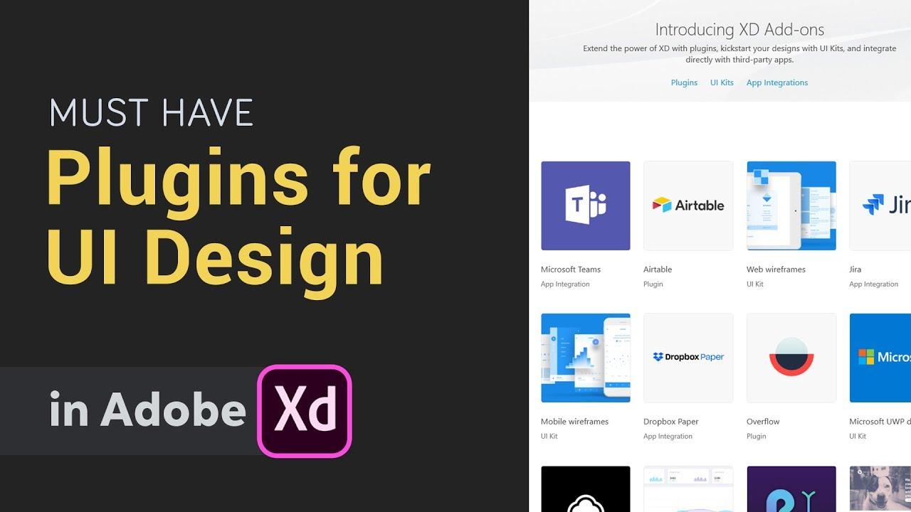 Must have plugins in Adobe XD → 5 Plugins for UI Design