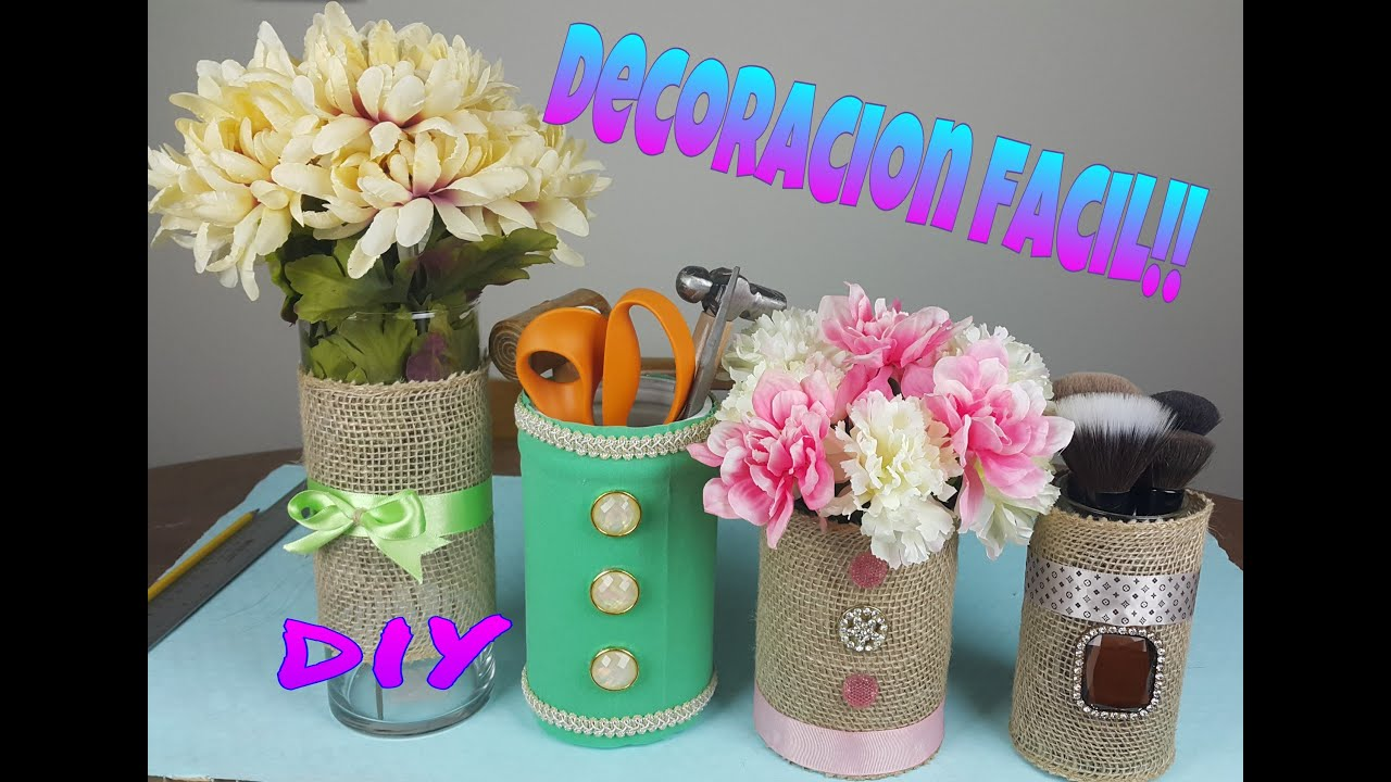 Diy decoracion ideas para decorar jarrones paoboscan for Decoracion de jarrones