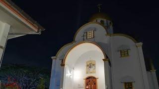 Храм святой Троицы на Пхукете, хор поёт на тайском, всенощное бдение