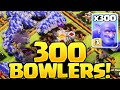 Clash of Clans ♦ 300 BOWLERS In One Attack! ♦ CoC Developer Build!