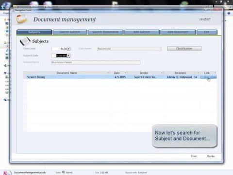 MS Access Document Management