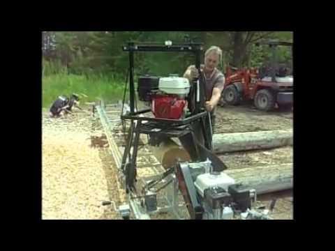 Log Lathes milling machie - YouTube