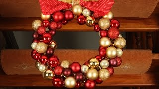 How to make a Christmas Wreath - Christmas Bauble Ornament Decoration