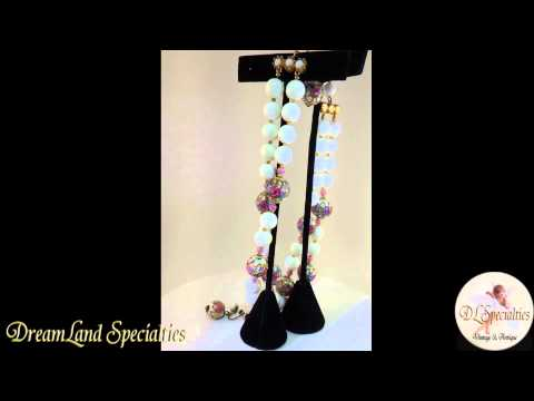 Vintage Jewelry Set Marvella Wedding Cake Necklace and Earrings Set