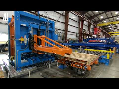 Automatic Pallet Stacking Conveyor | Pallet Stacker / Destacker