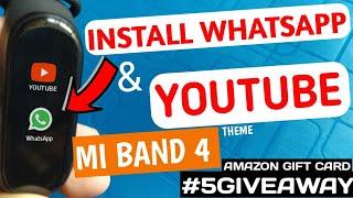 Mi band 4 hidden features | YouTube in mi band 4 | mi band 4 secret trick| apps in mi band 4