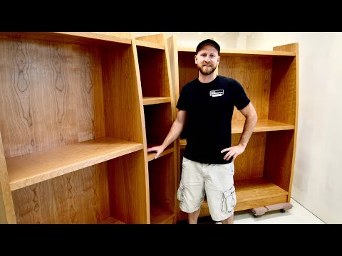 Easy to build custom display cabinets, woodworking, carpentry