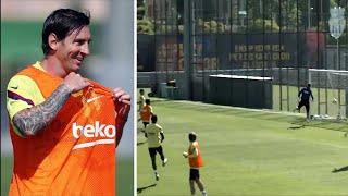 Месси забил ГЕНИАЛЬНЫЙ гол на тренировке Мальорка Барселона уже скоро Лучшие футбольные видео