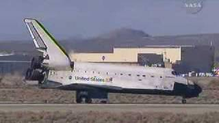 STS-126 Space Shuttle Endeavour lands at Edwards Air Force Base- NASA TV