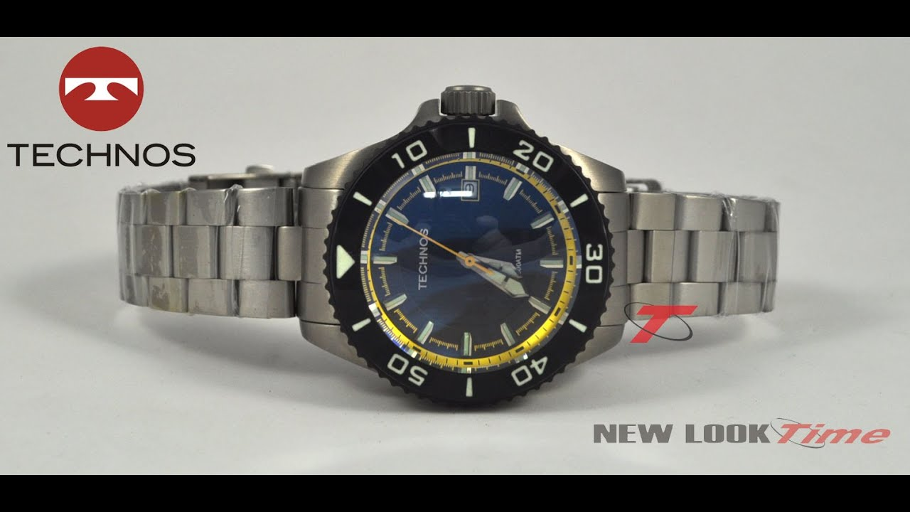 32789c3cf59 Relógio TECHNOS Acqua 8215AH 5P - New Look Time - YouTube