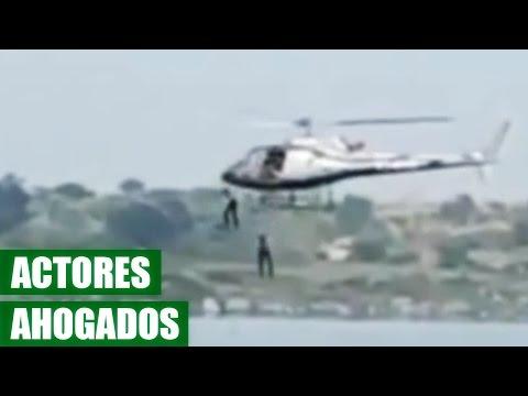Actores se Ahogan en un Lago Cuando Grababan Pelicula de Accion