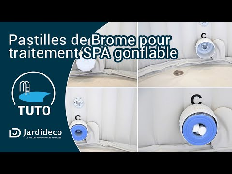 Comment traiter son spa gonflable au brome ? - YouTube