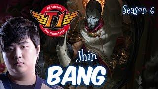 SKT T1 Bang JHIN ADC vs Lucian - Patch 6.3 KR | League of Legends
