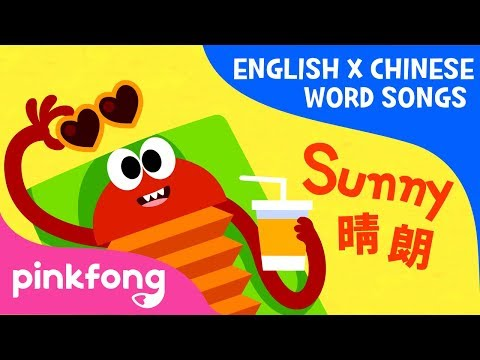 Sunny Rainy (晴朗 下雨) | English x Chinese Word Songs | Pinkfong Songs for Children
