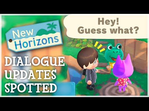 Animal Crossing New Horizons - DIALOGUE UPDATES SPOTTED (New Villager Dialogue)  