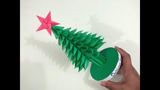 3D Paper Christmas Tree Making DIY Tutorial | How to Make a 3D Paper Xmas Tree |Crazy Craft ideas .