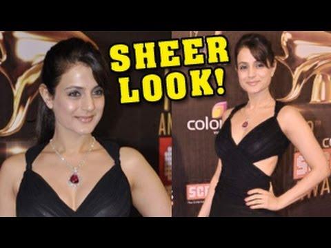 Ameesha Patel's NEW SHEER LOOK at Colors Screen Awards 2013