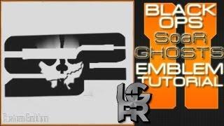 SoaR Sniping COD Ghosts Logo : Call Of Duty Black Ops 2 Emblem Tutorial