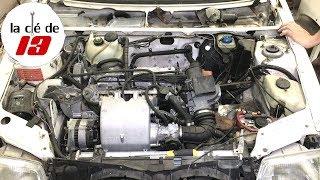 DEMONTAGE MOTEUR 205 GTI ( face avant et arrivée d'air )