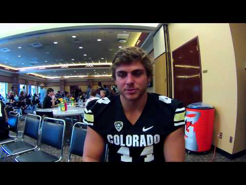 CU Media Day - Tight End Nick Kasa
