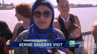 Sanders holds rally in Vallejo before California primary election