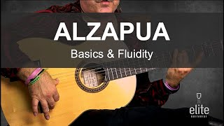 EliteGuitarist.com - Alzapua Basics, Fluidity & Demonstration in Solea & Seguiryia by Ricardo Marlow