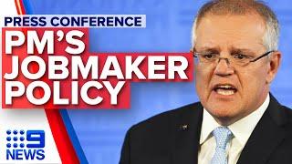 Breaking News: Scott Morrison announces JobMaker policy   Nine News Australia