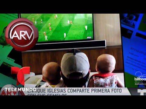 Enrique Iglesias comparte primera foto con sus gemelos | Al Rojo Vivo | Telemundo