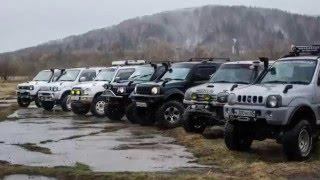Весенний Размаслай Off ROad offroad Sakhalin Russia Сокол Русское бездорожье Suzuki Jimny MMC Pajero