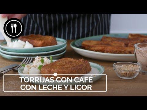 Vídeo receta de torrijas de café con leche (y un toque de licor de chocolate) con crema de mascarpone