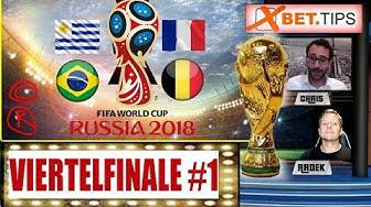 WM Tipps Viertelfinale Vorhersagen - Wett-Prognosen für Brasilien - Belgien und Uruguay - Frankreich