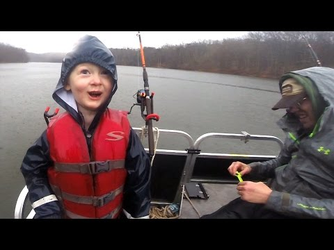 kids catch 100+ lbs of catfish - Tommy's first flathead! Fishing for catfish on a lake