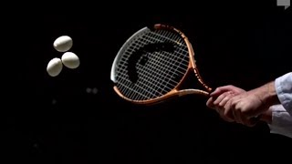 Amazing Egg Salad with Tennis Racquet in Slow Motion | Slow Mo Lab